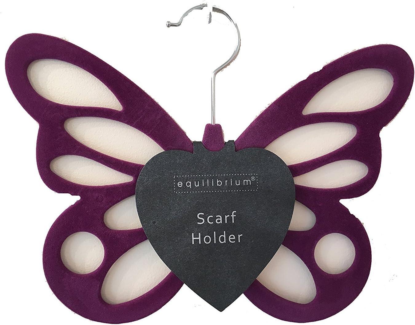 Antideslizante morado mariposa bufanda cintur/ón medias soporte organizador armario percha