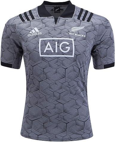 adidas Kids New Zealand All Blacks Rugby Shirt 2018 2019 Junior Short Sleeve