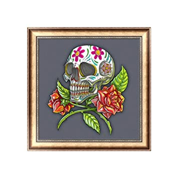 5D Diamond Embroidery Painting Skull Cross Stitch Art Craft Home Decor DIY