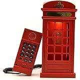 Gearmax® Cabina telefónica Vintage Londres diseñado USB carga noche LED lámpara Touch Sensor mesa escritorio