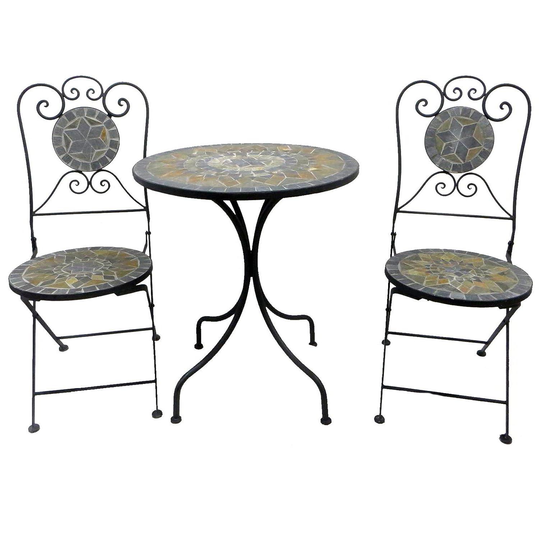 Bistro-Set Balkon-Set Eisen Gartenmöbel Set Mosaik Klappbar günstig