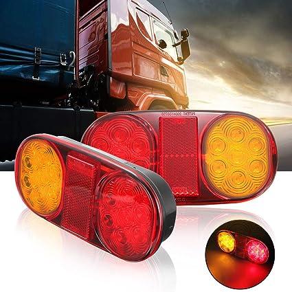 remorque camion Maso Lot de 2 feux arri/ère 36 LED 12 V pour voiture camion caravane