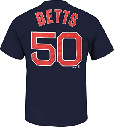 Mookie Betts Boston Red Sox Navy Blue Net Youth Name and Number T Shirt
