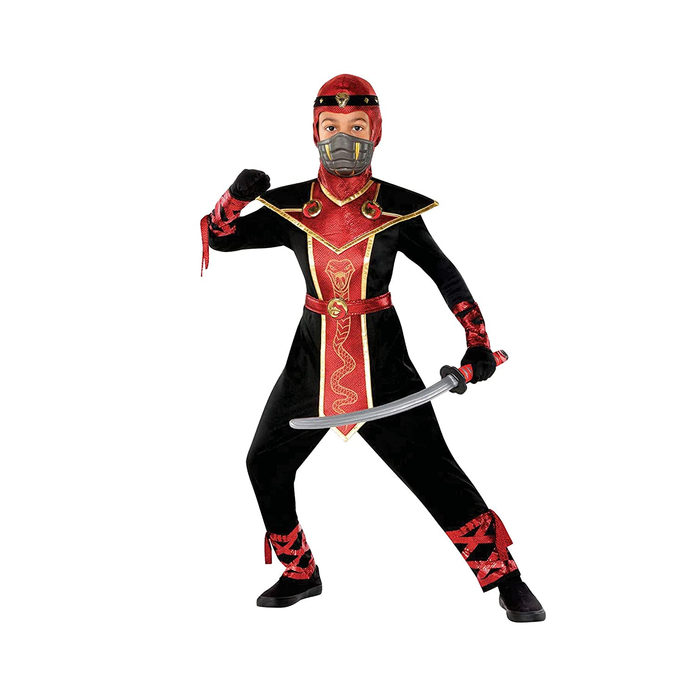 Boys Snake Venom Ninja Costume - Medium (8-10) Black