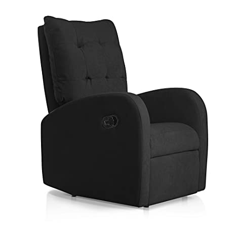 SUENOSZZZ-ESPECIALISTAS DEL DESCANSO Sillon Relax reclinable Soft tapizado Tela Antimanchas Color Negro | Sillon reclinable butaca Relax | Sillon ...