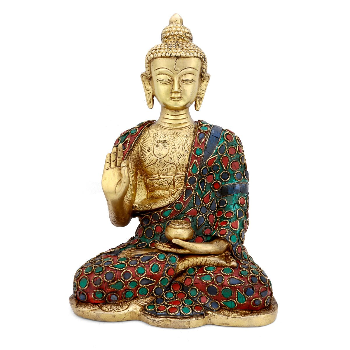 CraftVatika Thai Buddha Blessing Peace Harmony Statue, 10.5''H by CraftVatika