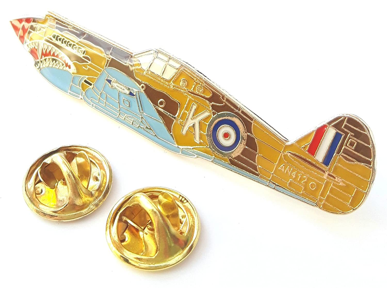 Warhawk Aeroplane Side View Enamel Lapel Pin Badge