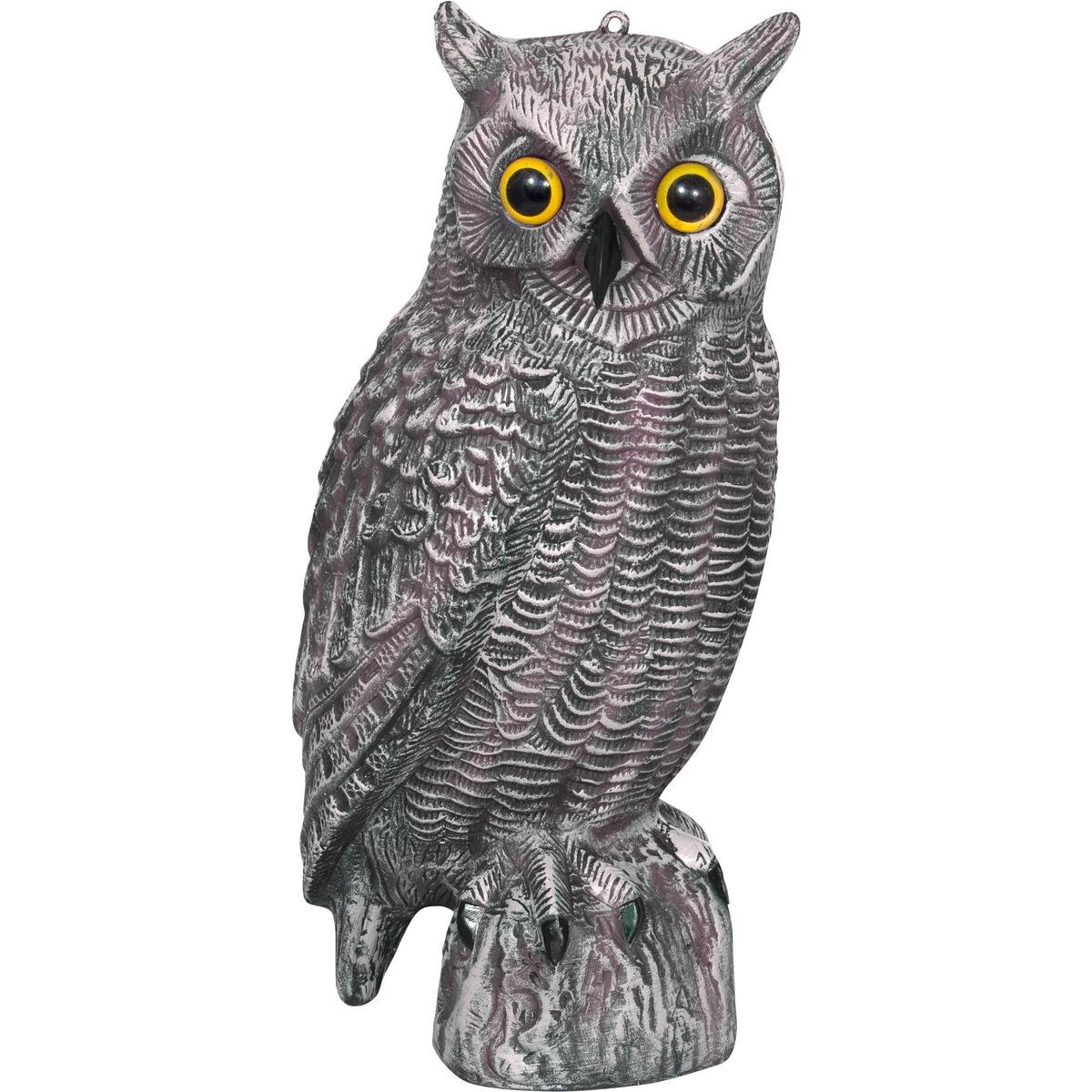 40cm Owl Decoy Pest Bird Rodents Repeller Scarer Deterrent Shooting Hunting Crow by Jack Pyke