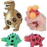 huichang Stressball, Dinosaurier Anti-Stress-Bälle Spielzeug für Kinder und Erwachsene