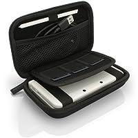 igadgitz Schwarz EVA Hart Tasche Schutzhülle fur Neu Nintendo 3DS Etui Case Cover mit Tragegurt (NICHT FÜR 3DS XL)