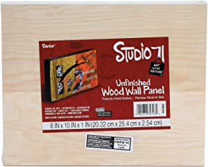 Darice Wood Wall Panel Unfinished 8 x 10 x 1 inches (6-Pack) 9190-337