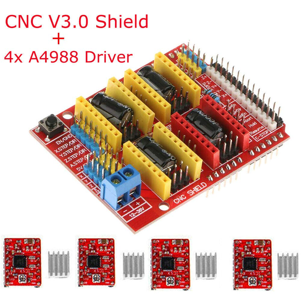 CNC Shield V3 Engraver Expansion Board 3D Printer Driver Board For Arduino Kit