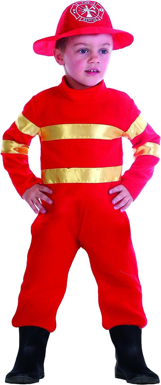 FIORI PAOLO 61342.3 – 4 – Baby bombero disfraz niño, Rojo, 3 – 4 ...