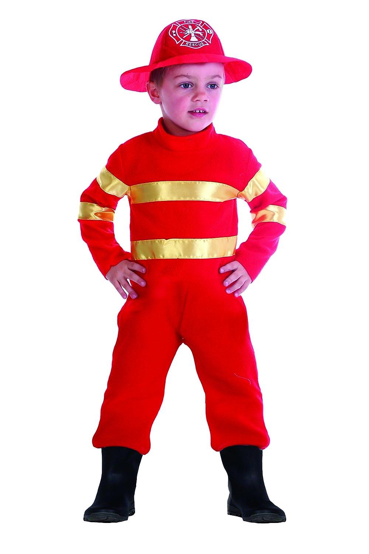 FIORI PAOLO 61342.3 - 4 - Baby bombero disfraz niño, Rojo, 3 ...