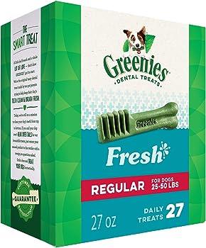 GREENIES Fresh Natural Dental Dog Treats 27oz