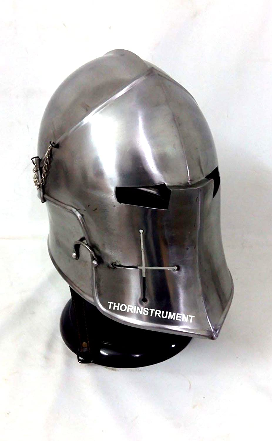 THORINSTRUMENTS Armor Barbuta Helmet Halloween Costume with Free Stand KG1737