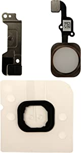 COHK Home Button Key Flex Cable Assembly with Rubber Ring Replacment Part Compatible with iPhone 6s and 6s Plus (Gold)