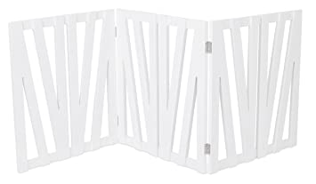 Internetu0027s Best Decorative Pet Gate | 3 Panel | 24 Inch Step Over Fence |  Free