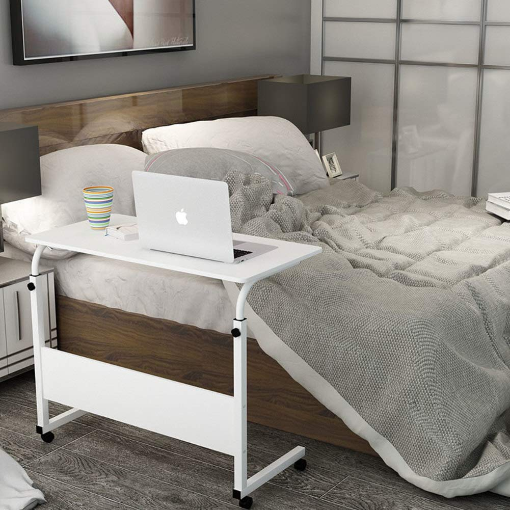 O 80x50cm(31x20inch) C Shaped Bedside Table,Adjustable Height Computer Desk for Bed,Laptop Desktop Table Stand Mobile Overbed Table Hospital Home-b 80x40cm(31x16inch)