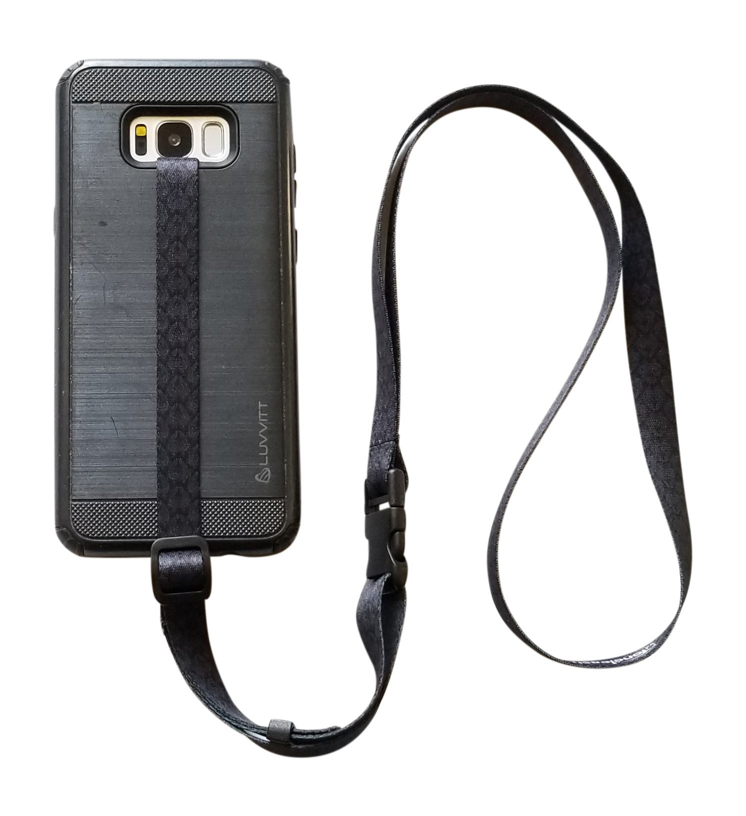 foneleash 3 in 1 Universal Cell Phone Lanyard Neck Wrist and Hand Strap Tether (Spade)