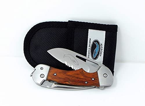 Myerchin Knives Tested at Sea WF300P Generation 2 Captain Professional Wood Handle Rigging Tool Knife