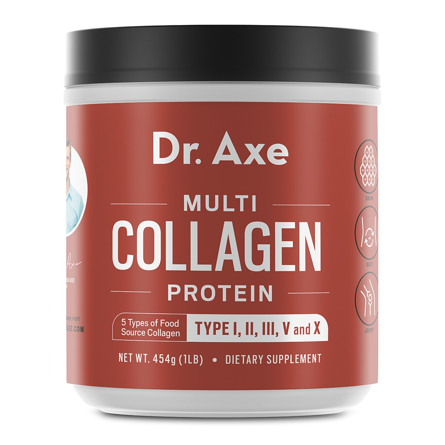 Dr. Axe Multi-Collagen Protein Powder - High-Quality Blend of Grass-Fed Beef, Chicken, Wild Fish and Eggshell Collagen Peptides, Providing Type I, II, III, V and X - Formerly Dr. Collagen