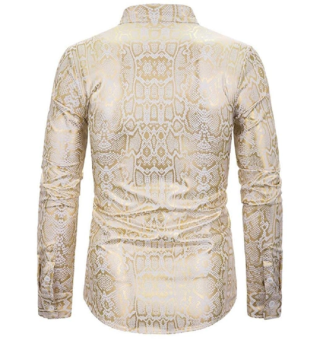 desolateness Mens Luxury Summer Long Sleeve Paisley Shirt Design Casual Button Down Shirts