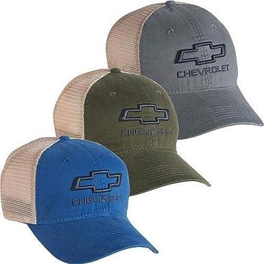 Chevrolet Chevy Gold Bowtie Hat Cap 3D OPEN BOWTIE PLATINUM SERIES MESH CAP