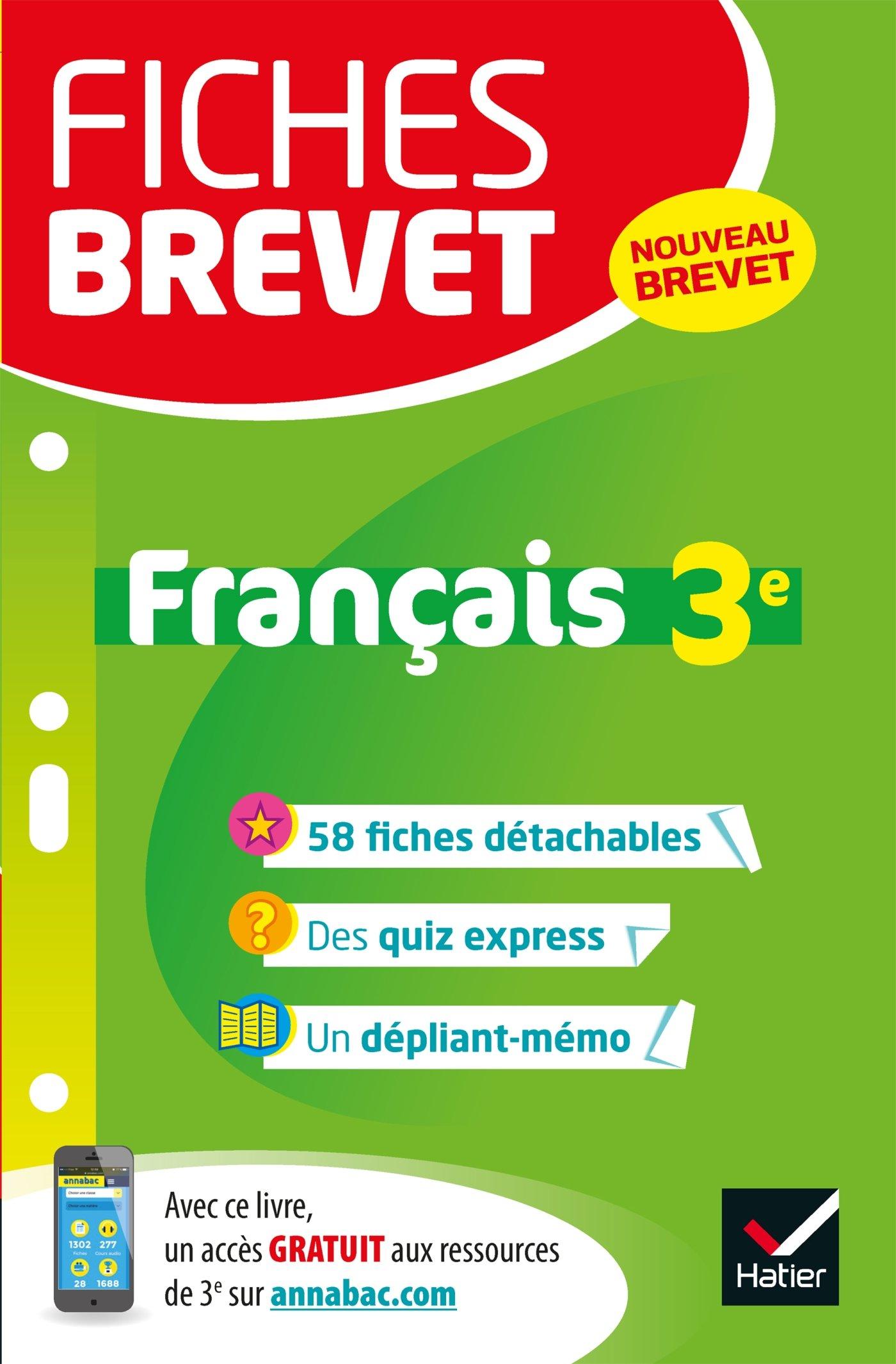 Fiches brevet Français 3e: fiches de révision pour le nouveau brevet: Amazon.es: Sylvie Dauvin, Jacques Dauvin: Libros en idiomas extranjeros