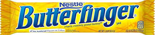 Butterfinger candy bar - 10th favorite candy
