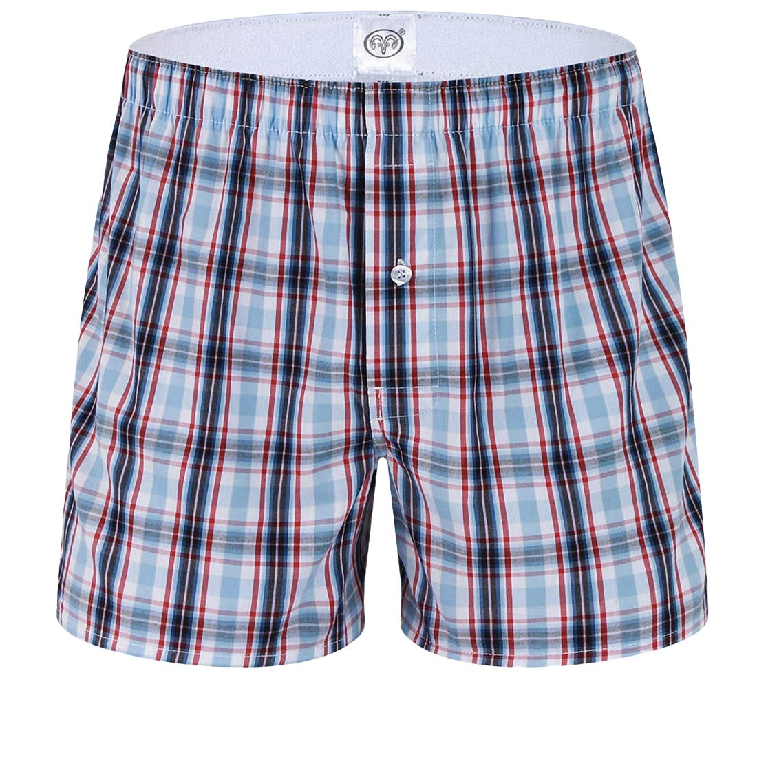 Rrive Men Loose Check Comfy Breathable Cotton Boxer Briefs