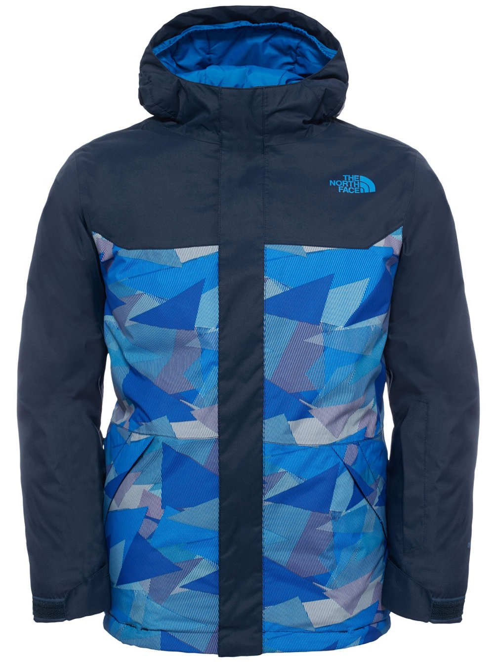 4f46ad8fa96d0 The North Face Brayden Insulated Boys Ski Jacket X-Large/Jake Blue Geo Camo  T92TL8 Sports ...