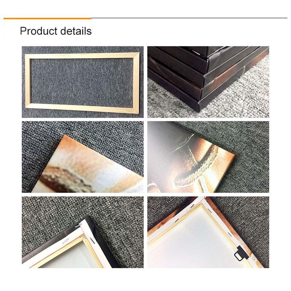 pacchi di 5 HJXJXJX Quadri moderni su tela di Giclee con cornice Quadro dipinto a parete dipinto a mano With Borders SizeA