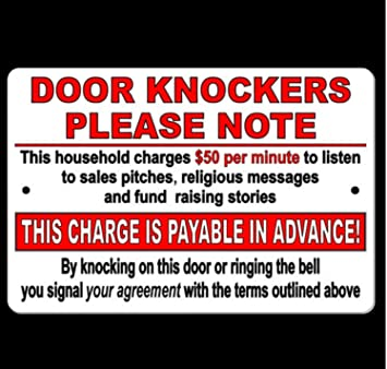 USA Premium Store Door Knockers Household Charges $50 A Minute To Listen Pay In Advance Sign  sc 1 st  Amazon.com & Amazon.com: USA Premium Store Door Knockers Household Charges $50 A ...