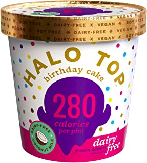 product image for Halo Top, Dairy-Free Birthday Cake, Pint (8 count)