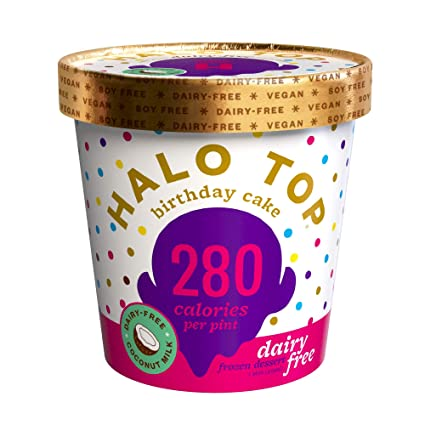 Incredible Halo Top Dairy Free Birthday Cake Pint 4 Count Amazon Com Funny Birthday Cards Online Alyptdamsfinfo