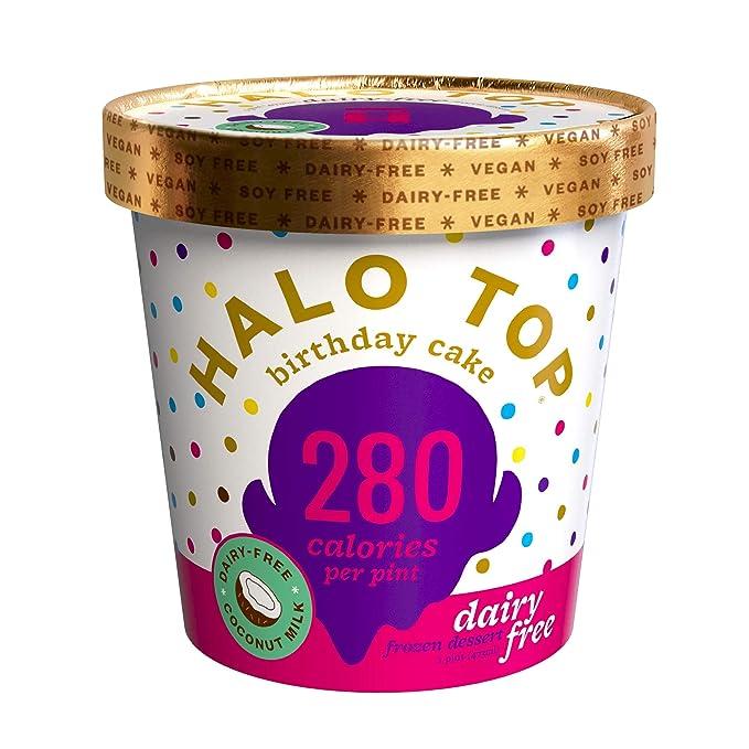 Enjoyable Halo Top Dairy Free Birthday Cake Pint 4 Count Amazon Com Birthday Cards Printable Nowaargucafe Filternl