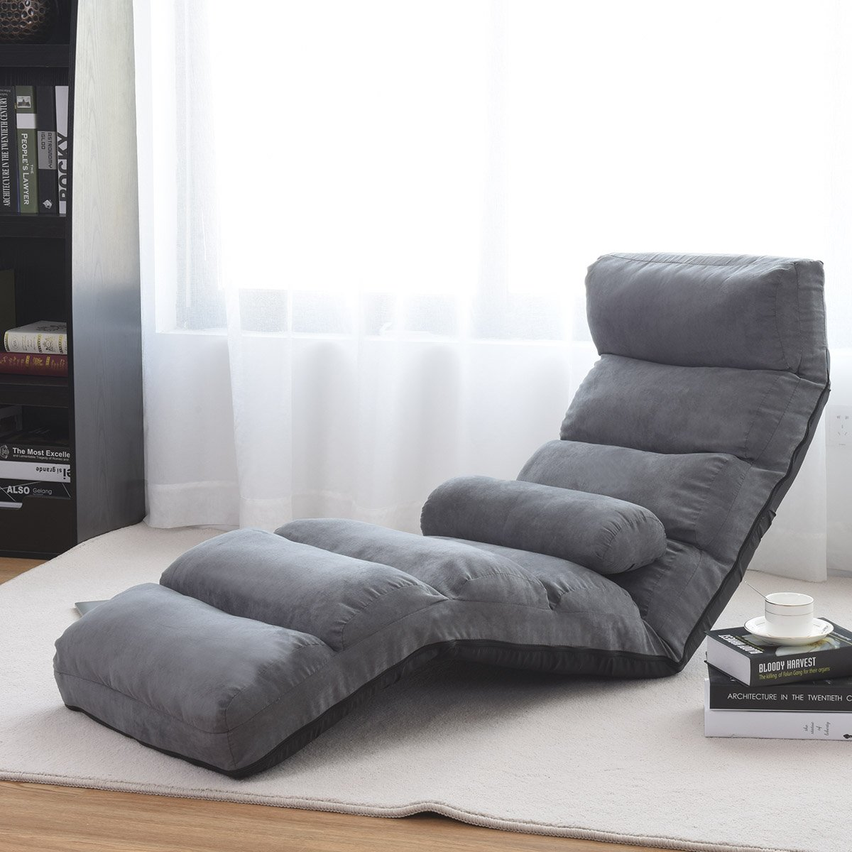 Amazon.com: Giantex plegable piso sofá, silla ajustable Lazy ...