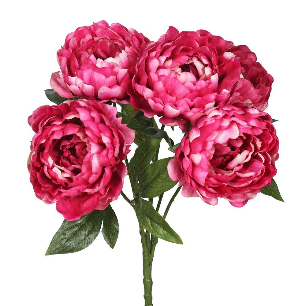 Vickerman FA174701 Hot Pink Everyday Peony Bush