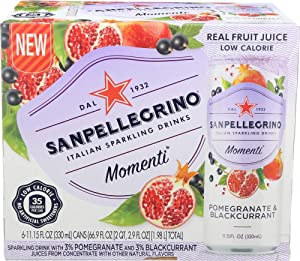 San Pellegrino, Momenti Sparkling Drink Pomegranate Blackcurrant, 11.15 Fl Oz, 6 Pack