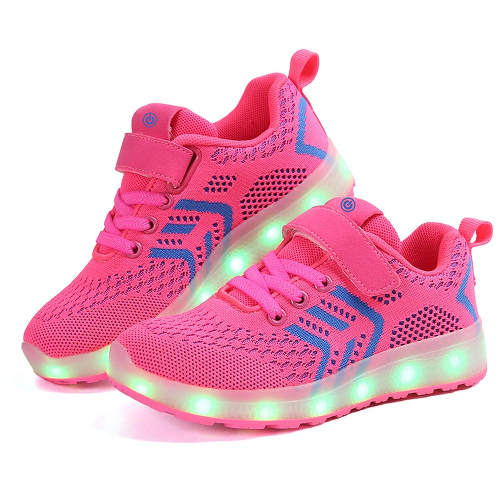 Believed Luminous Sneakers Children LED Luminous Shoes for Kids Glowing USB Light Up Girls Boys Fashion Sneakers