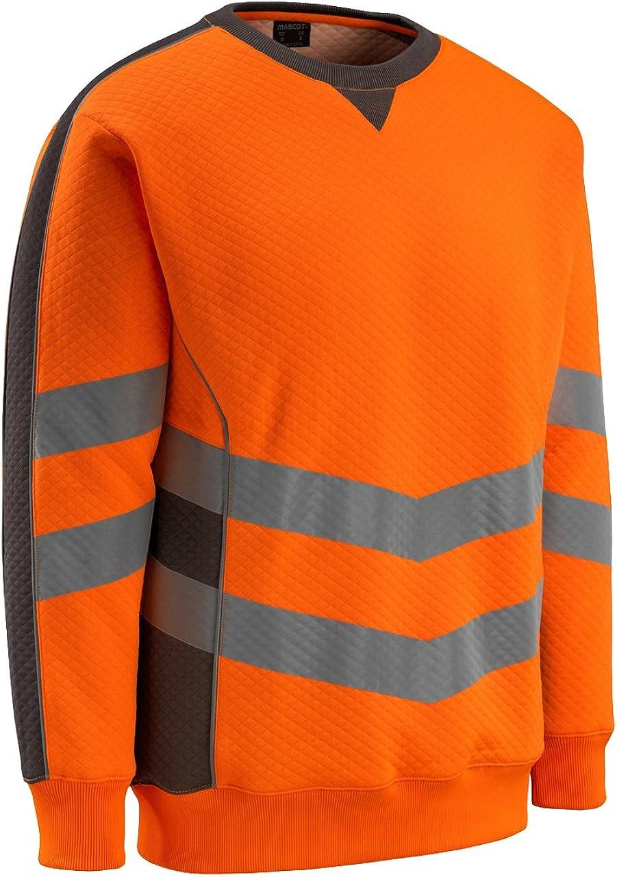 Gr. S und M Klasse 2 M Mascot Wigton Warnschutz-Sweatshirt EN 20471 Klasse 3 warngelb blau