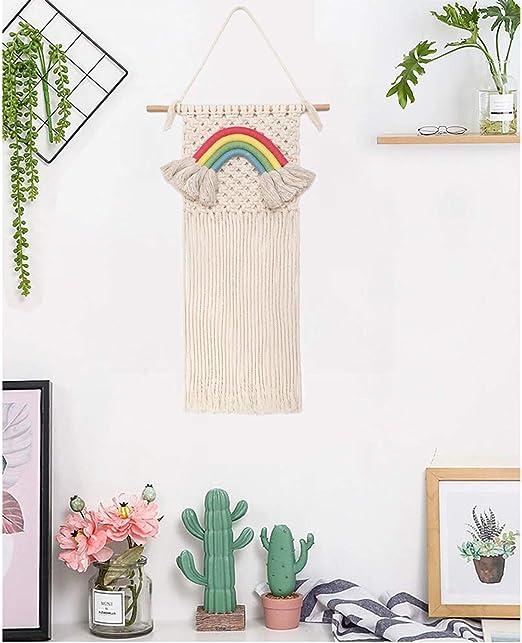 Bohemian Rainbow Macrame Woven Wall Tapestry Hanging Home Room Art Wall Decor