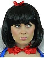 Yummy Bee Wig Snow Princess Costume Fairytale Fancy Dress Princess Black Bob