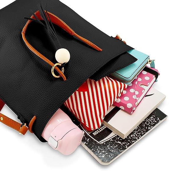 Fashion Women/'s Handbags Shoulder Bags Tassel Messenger Hobo Bucket Bag Satchel
