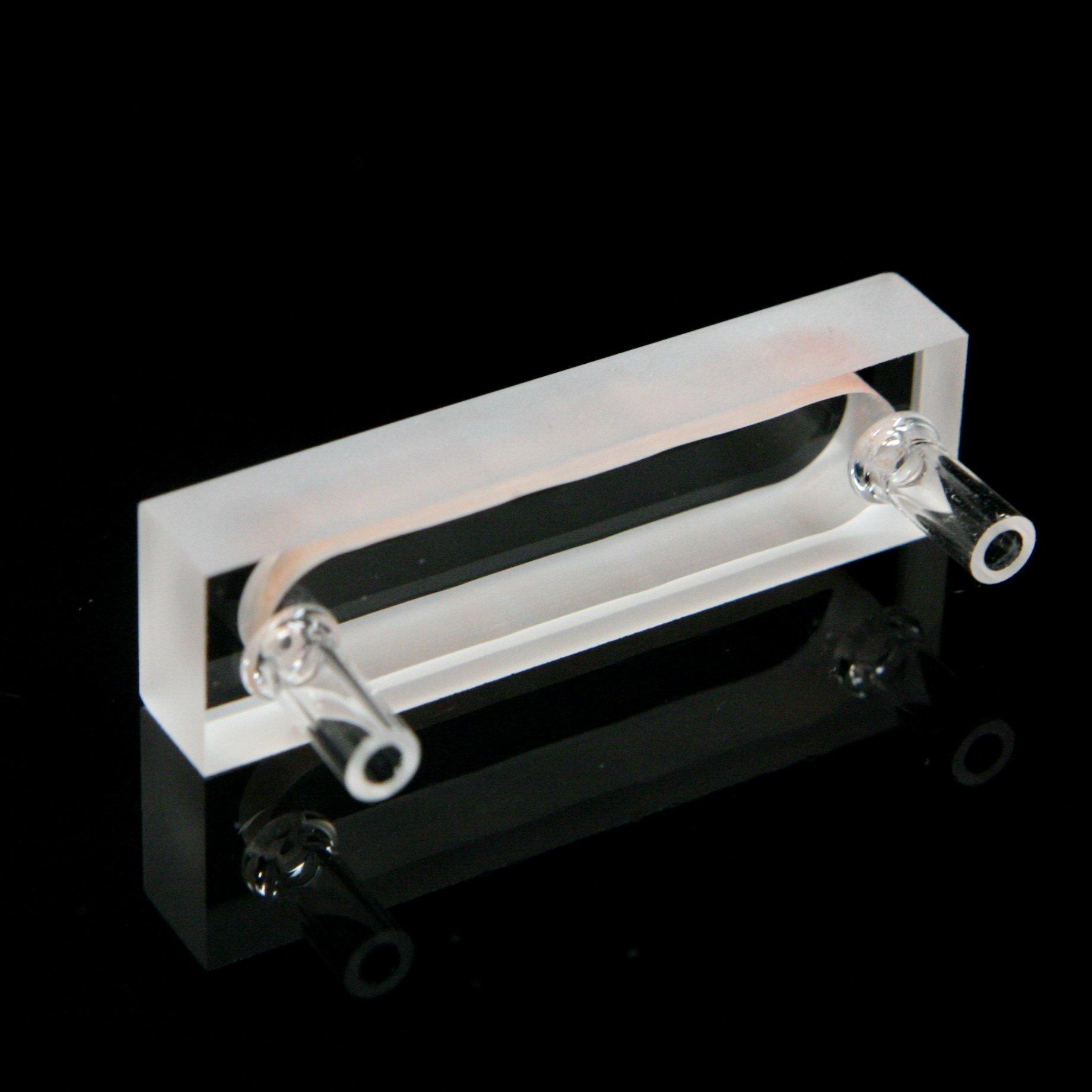 Quartz Flow Cuvette Cell, 5mm ,Flowing Cuvettes