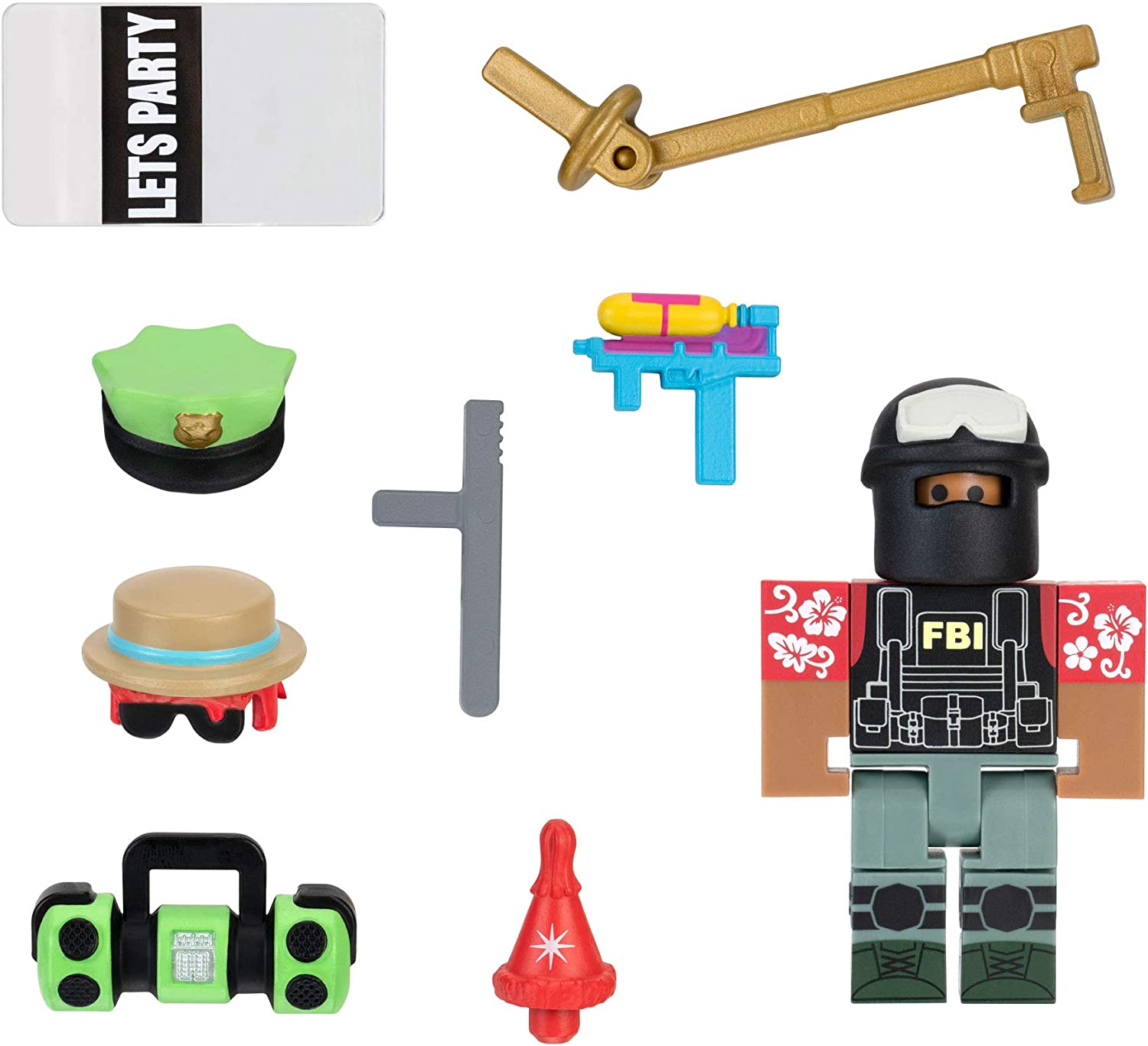 Amazon Com Roblox Avatar Shop Series Collection Party Swat Team Figure Pack Includes Exclusive Virtual Item Toys Games