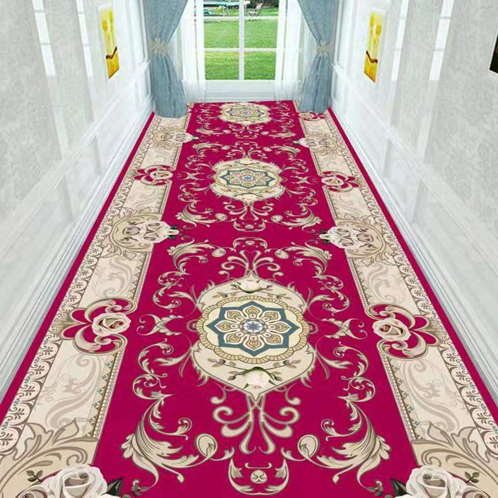 HAIPENG-Läufer Teppiche Flur Teppich Korridor Gang Eingangsbereich Rutschfest Waschbar Waschbar Waschbar Mit 6mm Höhe (Farbe   A, größe   0.9x3m) B07PMWXXYN Teppiche 7042ac