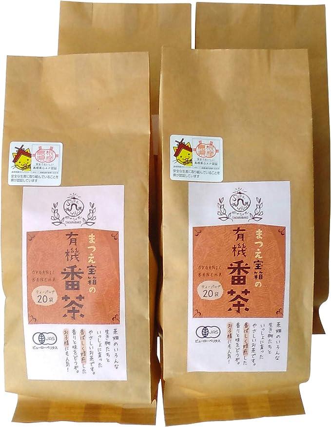 松江の番茶ティーバッグ(やかん・ポット1.5L用)×4袋セット【松江市大庭町・宝箱】