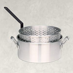 Bayou Classic 4010 10-qt Aluminum Fry Pot, Silver